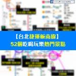 【台北捷運板南線】52個吃喝玩樂熱門景點~一日遊、半日遊、兩天一夜任你搭配懶人包
